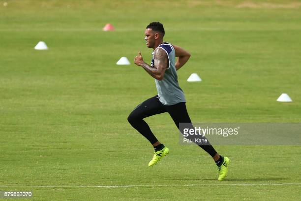 Harley Bennell of the Dockers runs during a Fremantle Dockers AFL preseason training session at Victor George Kailis Oval on November 27 2017 in...
