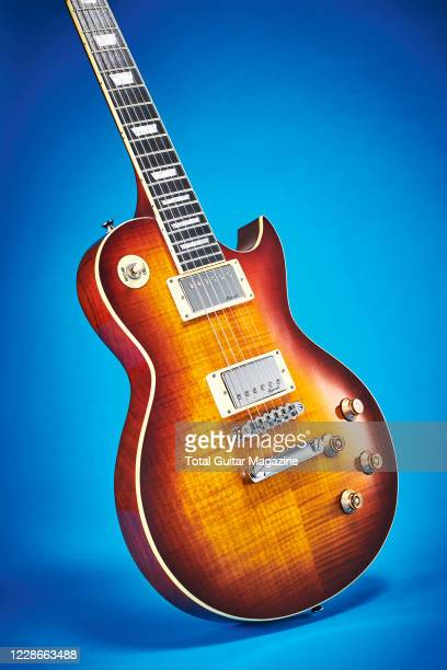A Harley Benton SC550 electric guitar with a Desert Flame Burst finish taken on February 13 2020