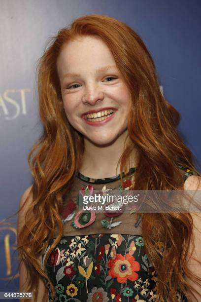 Harley Bird attends the UK Premiere of Beauty And The Beast at Odeon Leicester Square on February 23 2017 in London England