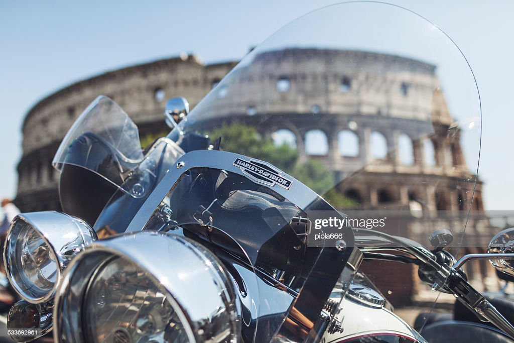 Harley Davidson anniversario a Roma : Foto stock