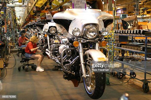Harley Davidson celebrates its 100th anniversary this year Seen are different areas of the Harley plant where the motorcycles are assembled