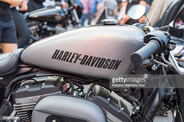Harley Davidson close up Bike's gas tank with company's logo Harley Davidson is company who is know for its top quality engineering