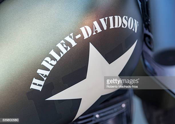 Harley Davidson close up Motorcycle's gas tank the company star logo Harley Davidson is company who is know for its top quality engineering