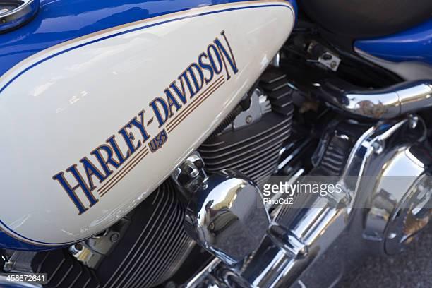 Harley Davidson Logo On Motorcycle Fuel Tank