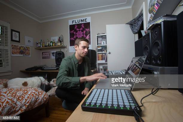 Harley Edward Streten better known as Flume poses in his bedroom at his Northern Beaches home on November 20 2012 in Sydney Australia Flume won four...