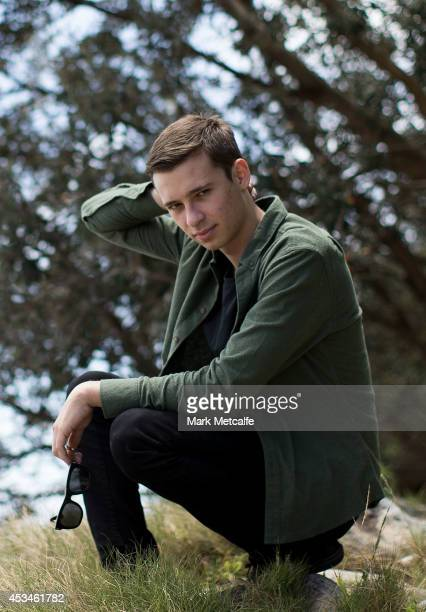 Harley Edward Streten better known as Flume poses on the coastline close to his Northern Beaches home on November 20 2012 in Sydney Australia Flume...