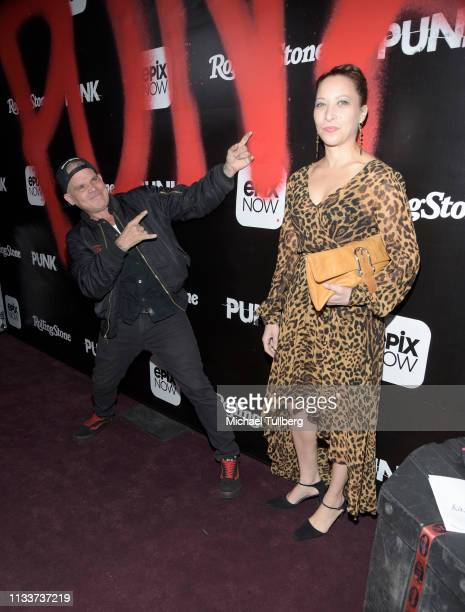 Harley Flanagan and Laura Flanagan attend the Los Angeles premiere of the EPIX Original DocuSeries PUNK at SIR on March 04 2019 in Los Angeles...