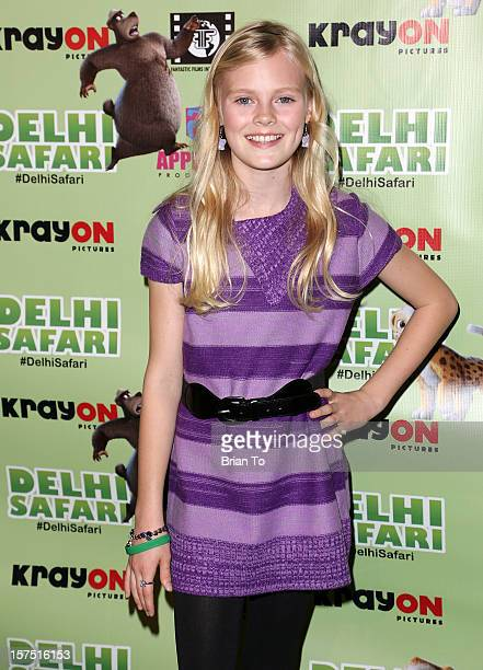 Harley Graham attends 'Delhi Safari' Los Angeles premiere at Pacific Theatre at The Grove on December 3 2012 in Los Angeles California