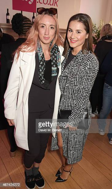 Harley Moon Kemp and Electra Formosa attend as Rochelle Humes presents her SS15 collection for verycouk at The Portico Rooms Somerset House on March...