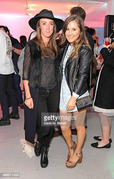 Harley Moon Kemp and Electra Formosa attend the Beats by Dr Dre Drenched in Colour nail event on April 24 2014 in London England