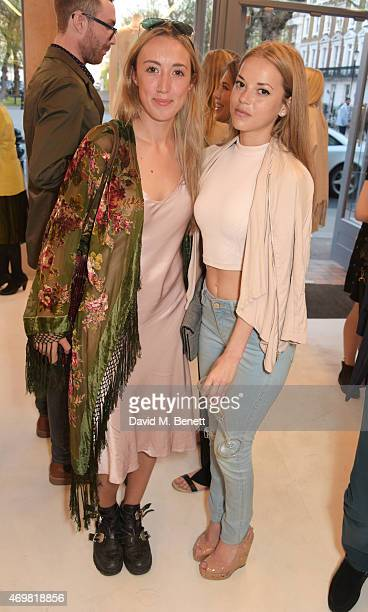 Harley Moon Kemp and Natalie Joel attend the reinvention of Ghost on Kings Road hosted by Touker Suleyman on April 15 2015 in London England