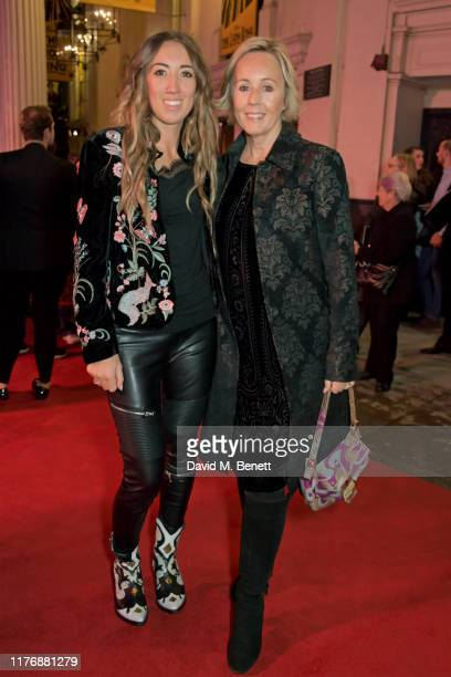 Harley Moon Kemp and Shirlie Holliman attend the 20th anniversary gala performance of The Lion King at The Lyceum Theatre on October 19 2019 in...