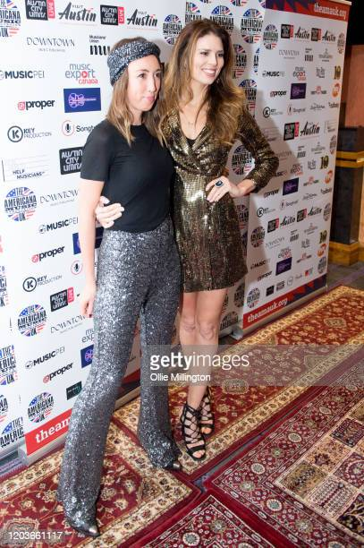 Harley Moon Kemp and Twinnie attend the Americana Awards 2020 at Troxy on January 30 2020 in London England