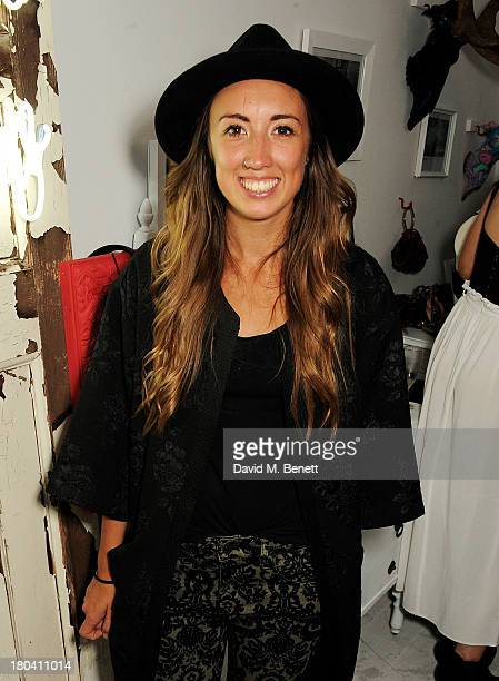 Harley Moon Kemp attends the Maison Triumph 20 launch party on Monmouth Street on September 12 2013 in London England