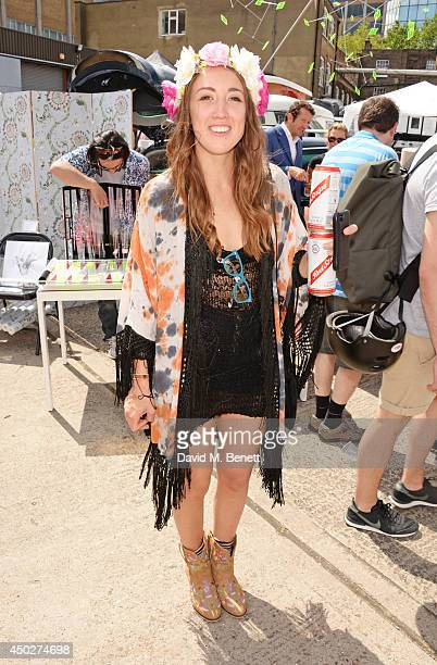 Harley Moon Kemp attends the Vauxhall Art Car Boot Fair 2014 in Brick Lane on June 8 2014 in London England