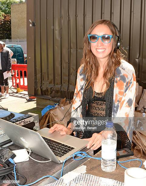 Harley Moon Kemp DJ's at the Vauxhall Art Car Boot Fair 2014 in Brick Lane on June 8 2014 in London England