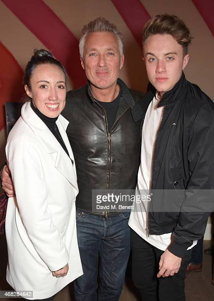Harley Moon Kemp Martin Kemp and Roman Kemp attend a private screening of Age Of Kill at The Ham Yard Hotel on April 1 2015 in London England