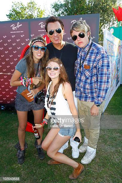 Harley Moon Martin Kemp and Roman are seen in the Ray Ban area during day three of the Isle of Wight Festival 2010 at Seaclose Park on June 13 2010...