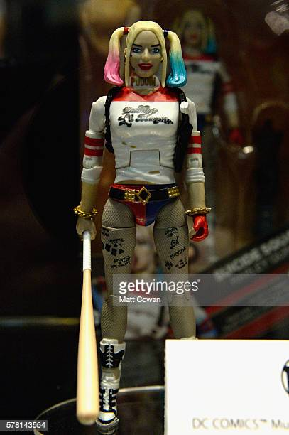 Harley Quinn from Suicide Squad figurine displayed at ComicCon International 2016 preview night on July 20 2016 in San Diego California