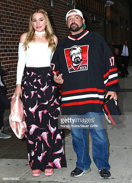 Harley Quinn Smith and Kevin Smith are seen on August 25 2016 in New York City