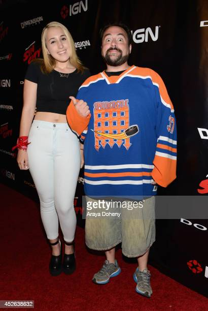 Harley Quinn Smith and writer/director Kevin Smith attend IGN Sin City A Dame to Kill For ComicCon International Party during ComicCon International...