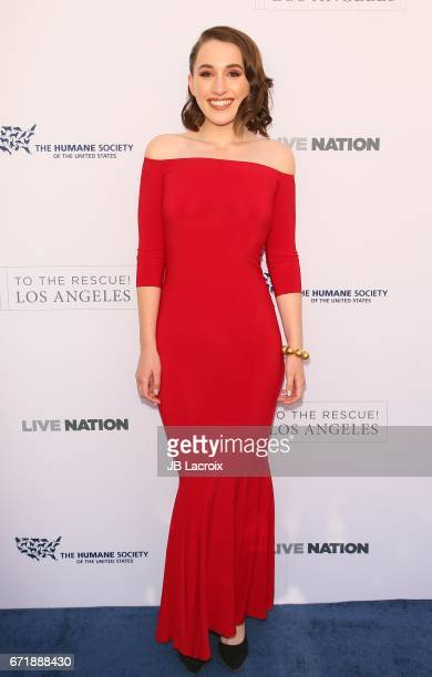 Harley Quinn Smith attends the Humane Society of The United States' Annual To The Rescue Los Angeles Benefit on April 22 2017 in Hollywood California