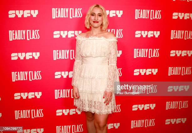 Harley Quinn Smith attends the premiere week screening of SYFY's Deadly Class hosted by Kevin Smith at The Wilshire Ebell Theatre on January 14 2019...