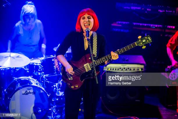 Harley Quinn Smith of the band The Tenth performs at The Troubadour on August 23 2019 in Los Angeles California