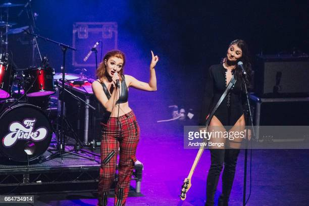 Harley Rae and Alice Androsch of The Flicks perform at the Barbican York on March 26 2017 in York England