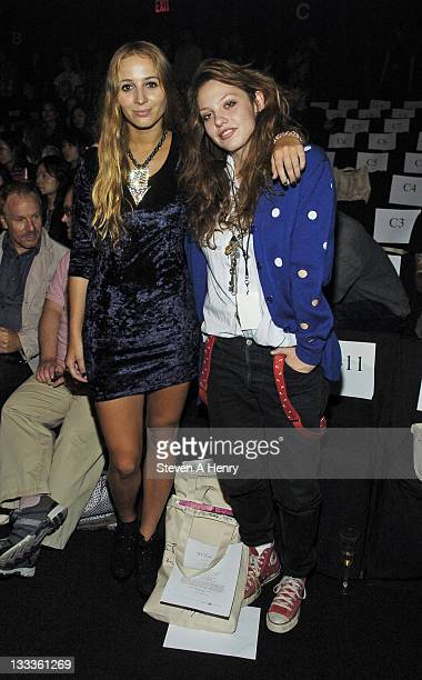 Harley Sierra Newton and Cory Kennedy attend Erin Wasson x RVCA Spring 2010 during MercedesBenz Fashion Week at Bryant Park on September 11 2009 in...