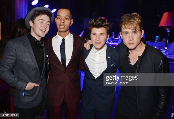 Harley Sylvester AlexanderSule and guests attend the Universal Music Brits' After Party At Soho House PopUp on February 19 2014 in London United...
