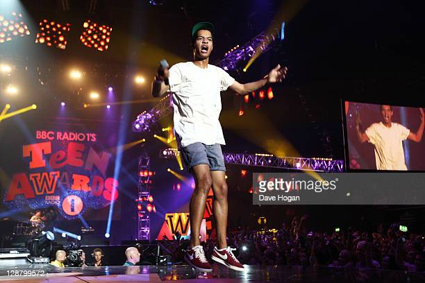 Harley 'Sylvester' AlexanderSule and Jordan 'Rizzle' Stephens of Rizzle Kicks perform at the BBC Teen Awards at Wembley arena on October 9 2011 in...