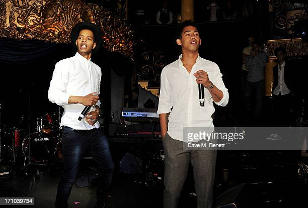 REQUIRED Harley 'Sylvester' AlexanderSule and Jordan 'Rizzle' Stephens of Rizzle Kicks perform at the Hoping Foundation's 'Rock On' benefit evening...