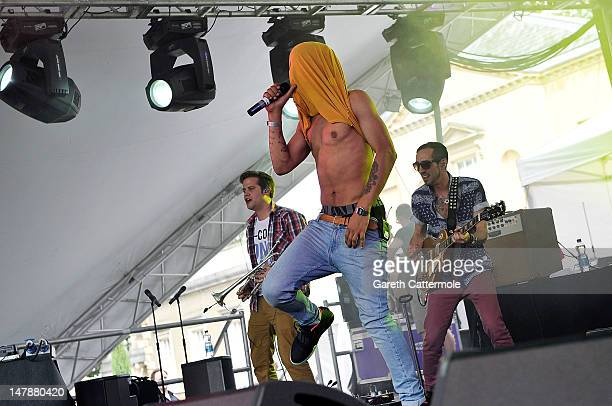 Harley 'Sylvester' AlexanderSule of Rizzle Kicks performs at House Festival Chiswick House Gardens on July 5 2012 in London England The festival from...