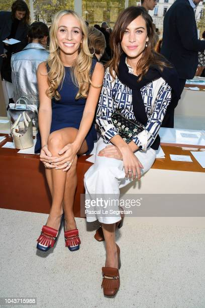 Harley Viera Newton and Alexa Chung attend the Valentino show as part of the Paris Fashion Week Womenswear Spring/Summer 2019 on September 30 2018 in...