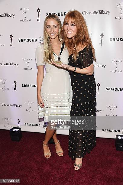 Harley Viera Newton and makeup artist Charlotte Tilbury attend Charlotte Tilbury x Samsung at 837 Washington on September 10 2016 in New York City