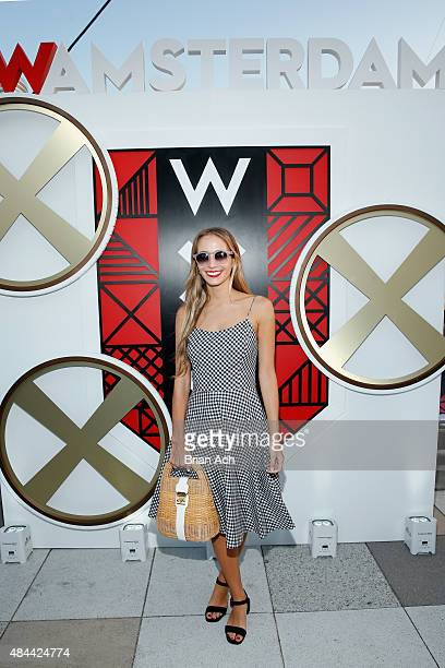 Harley Viera Newton attends All Aboard as W Hotels toasts the upcoming opening of W Amsterdam with 'Captains' Taylor Schilling Erin Heatherton Chanel...