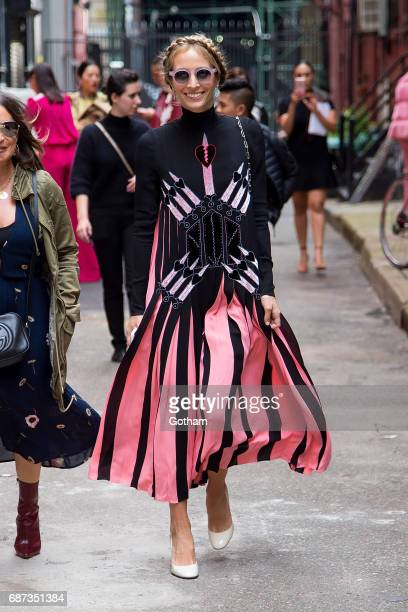 Harley Viera Newton is seen in NoHo on May 23 2017 in New York City