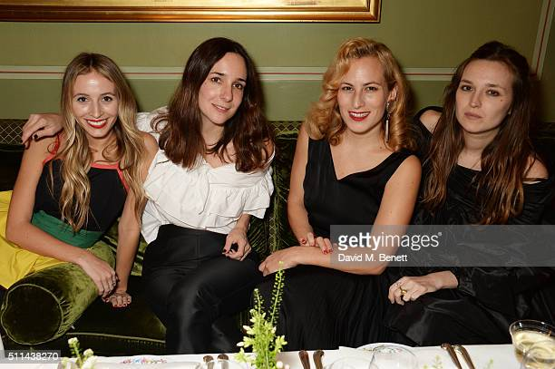 Harley Viera Newton Serafina Sama Charlotte Dellal and Valentine Fillol Cordier attend a private dinner hosted by Matchesfashioncom and Isa Arfen to...