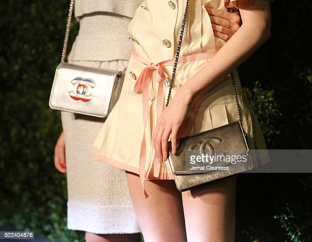 Harley VieraNewton and Laura Love attend the 11th Annual Chanel Tribeca Film Festival Artists Dinner at Balthazar on April 18 2016 in New York City