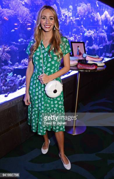 Harley VieraNewton attends an exclusive dinner to celebrate her SS18 collaboration with British footwear brand Butterfly Twists at Sexy Fish on April...