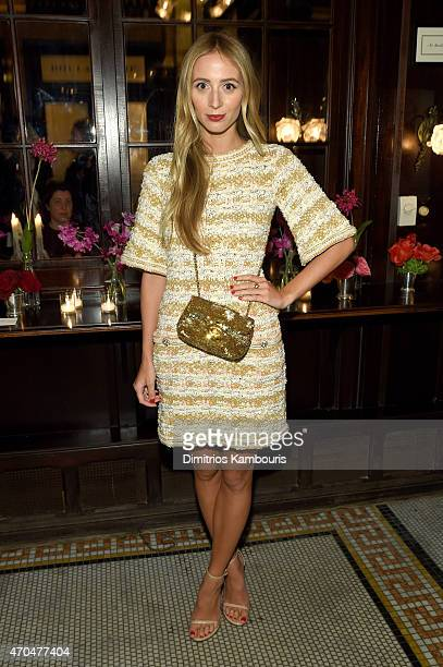 Harley VieraNewton attends the 2015 Tribeca Film Festival CHANEL Artists Dinner at Balthazer on April 20 2015 in New York City