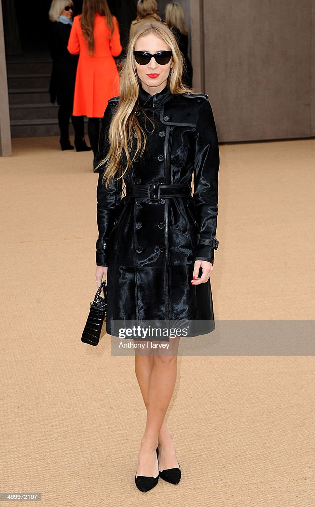 Harley Viera-Newton attends the Burberry Prorsum show at London Fashion Week AW14 at Kensington Gardens on February 17, 2014 in London, England.