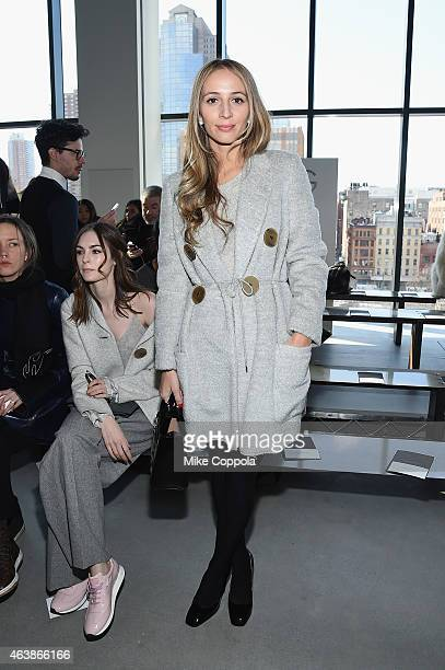 Harley VieraNewton attends the Calvin Klein Collection fashion show during MercedesBenz Fashion Week Fall 2015 at Spring Studios on February 19 2015...