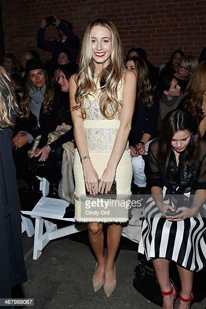 Harley VieraNewton attends the Christian Siriano fashion show during MercedesBenz Fashion Week Fall 2014 at Eyebeam on February 8 2014 in New York...