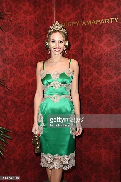 Harley VieraNewton attends the Dolce Gabbana pyjama party at 5th Avenue Boutique on March 15 2016 in New York City