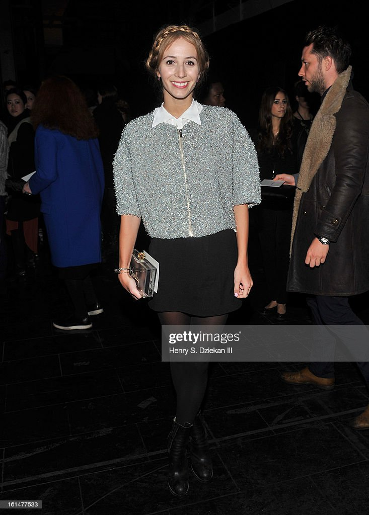 Harley Viera-Newton attends Theyskens' Theory during Fall 2013 Mercedes-Benz Fashion Week at Skylight Studios at Moynihan Station on February 11, 2013 in New York City.