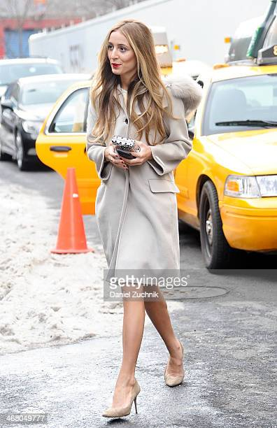 Harley VieraNewton is seen outside the Christian Siriano show on February 8 2014 in New York City