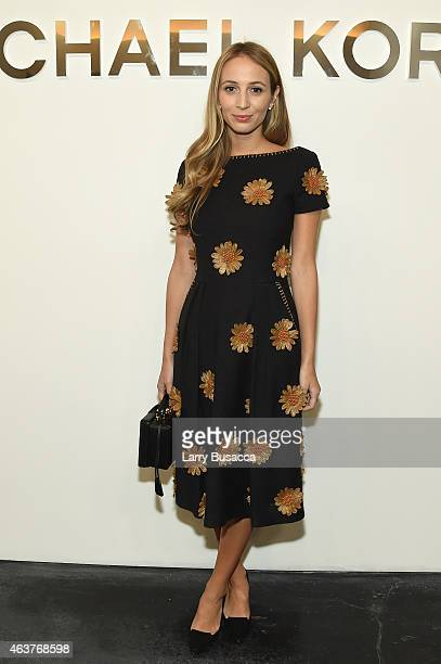 Harley VieraNewton poses backstage at the Michael Kors fashion show during MercedesBenz Fashion Week Fall 2015 at Spring Studios on February 18 2015...