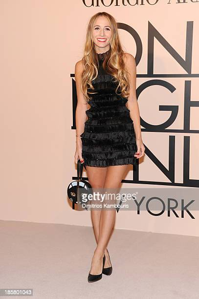 Harley VieraNewton wearing Armani attends Giorgio Armani One Night Only NYC at SuperPier on October 24 2013 in New York City